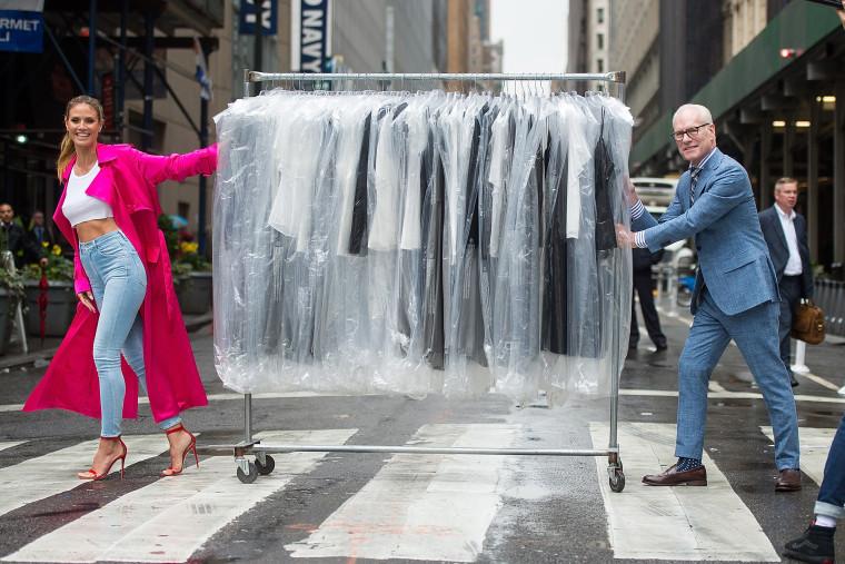 Image: Heidi Klum and Tim Gunn in Midtown Manhattan on June 6, 2017.