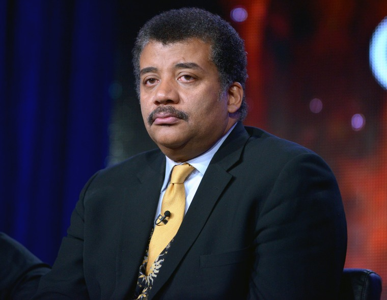 Image: Neil DeGrasse Tyson appears on a panel in Pasadena, California, in 2014.