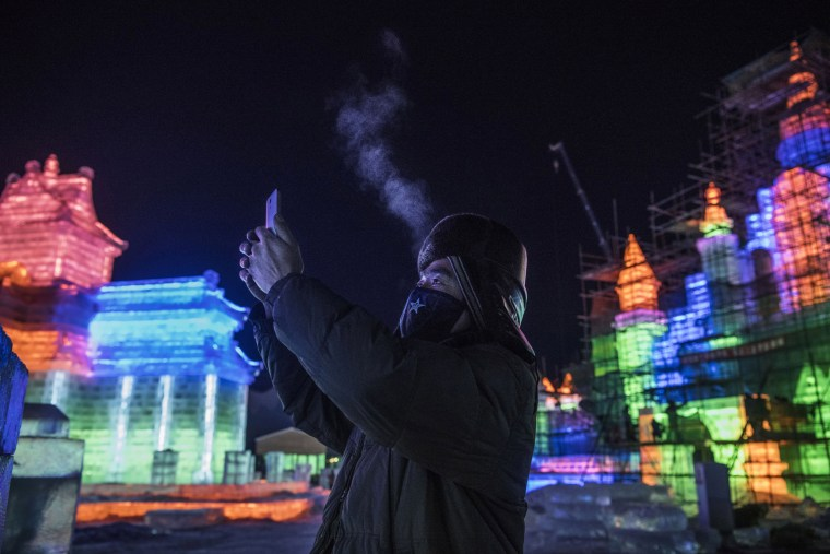 Image: Workers In China Prepare For World's Largest Ice Festival