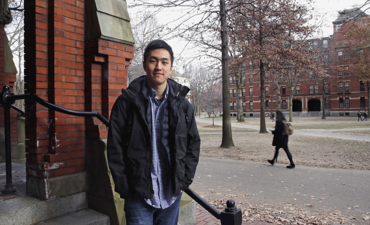 Image: Jin Park, a Harvard University graduate and undocumented student, risks not being allowed back into the United States if he enrolls in school in England.