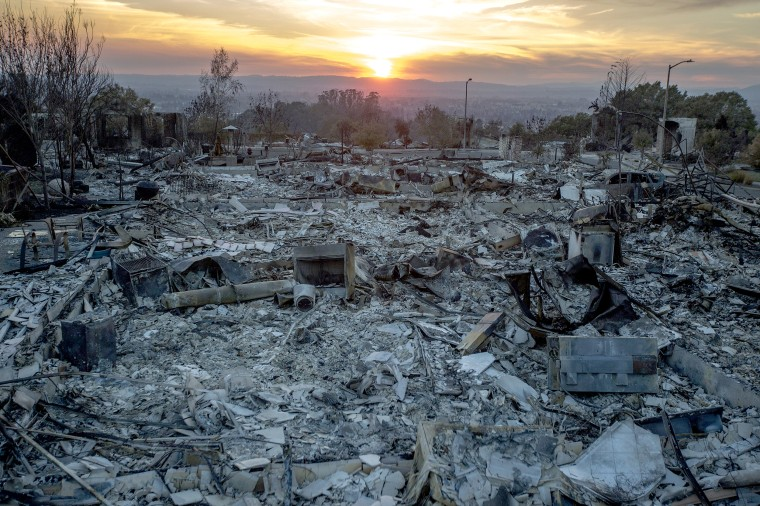 Image: Multiple Wildfires Continue To Ravage Through California Wine Country