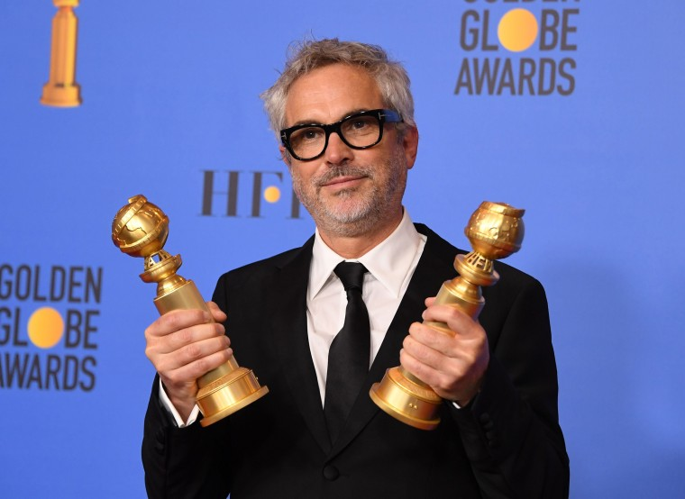 Image: Alfonso Cuaron, US-ENTERTAINMENT-FILM-TELEVISION-GOLDEN-GLOBES-PRESSROOM