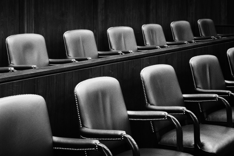 Image: Empty Jury Seats in Courtroom