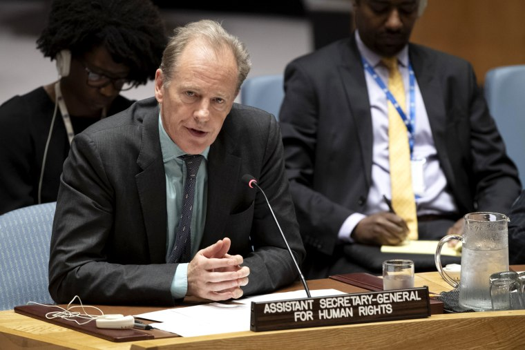 Image: Andrew Gilmour, assistant secretary-general for human rights, addresses the United Nations Security Council in New York on June 14, 2019.