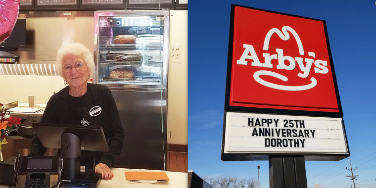 Dorothy Bale, a 94-year-old woman from Utah, has been working at Arby's for 25 years.