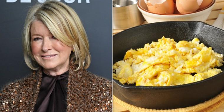 Martha Stewart shares strange scrambled egg hack and leaves followers all mixed up
