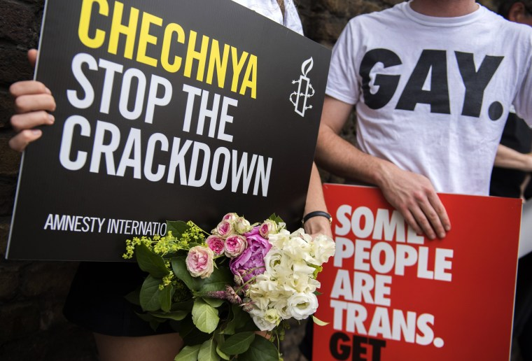 Image: LGBT rights protest outside the Russian Embassy in Central London