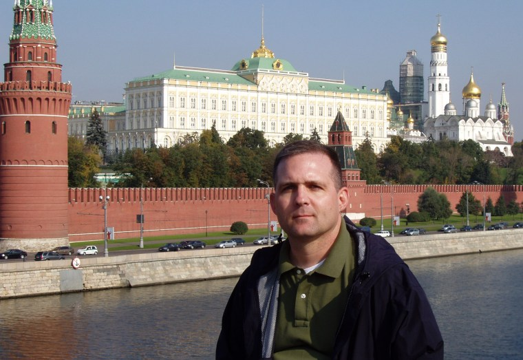 Image: Paul Whelan at the Kremlin in Moscow in 2006.