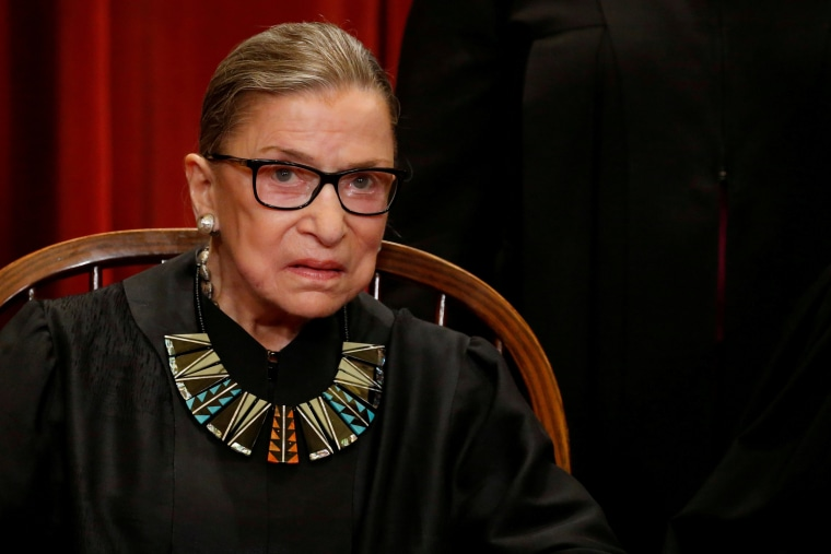 Image: Supreme Court Justice Ruth Bader Ginsburg in Washington on June 1, 2017.