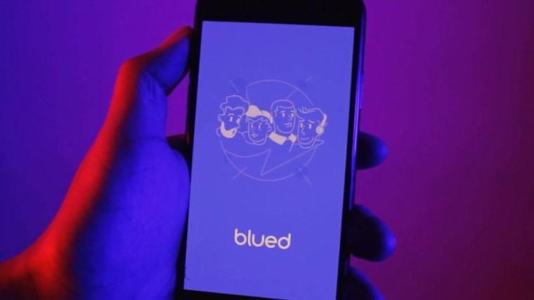 Image: Blued, a Chinese gay dating app.