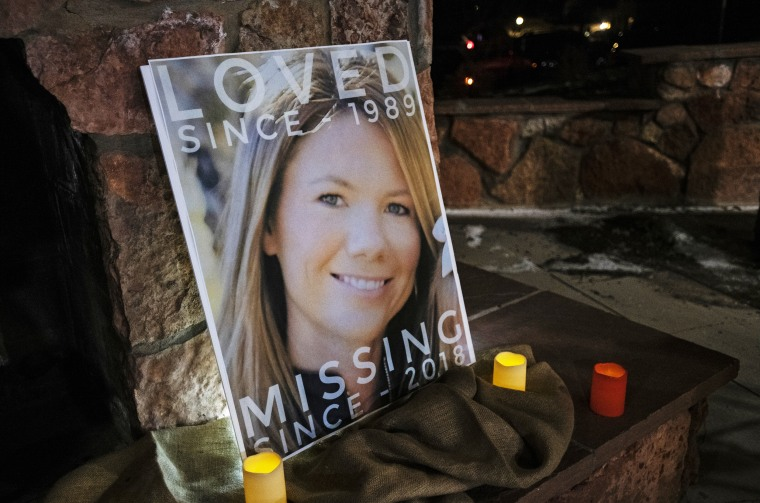 A picture Kelsey Berreth at a vigil in Woodland Park, Colorado on Dec. 13, 2018.