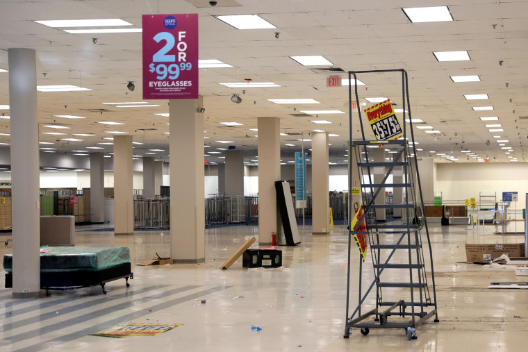 Image: The inside of a Sears department store is seen one day after it closed in Nanuet
