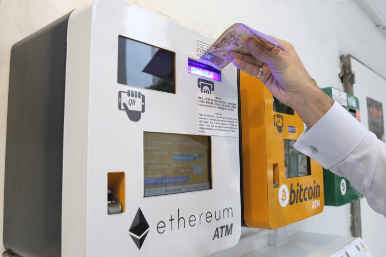 An Ethereum ATM in Hong Kong.
