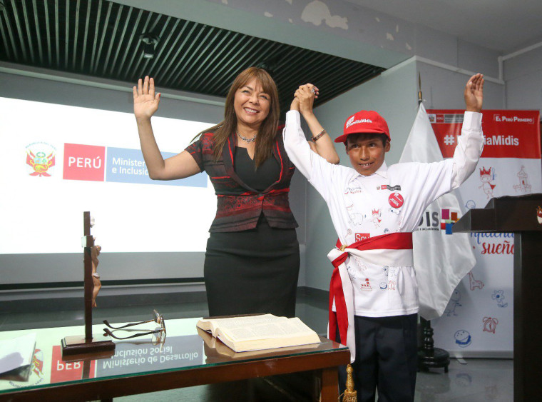 Jesus Mamani Ramos was sworn in as Peru's Minister of Development and Social Inclusion for a day.