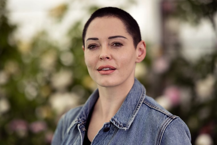Image: Rose McGowan, film-maker and author of 'Brave', at the Hay Festival