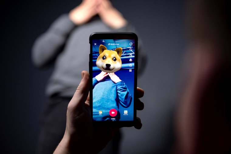 The smart phone application TikTok, a Chinese short-form video-sharing app, which has proved wildly popular this year.
