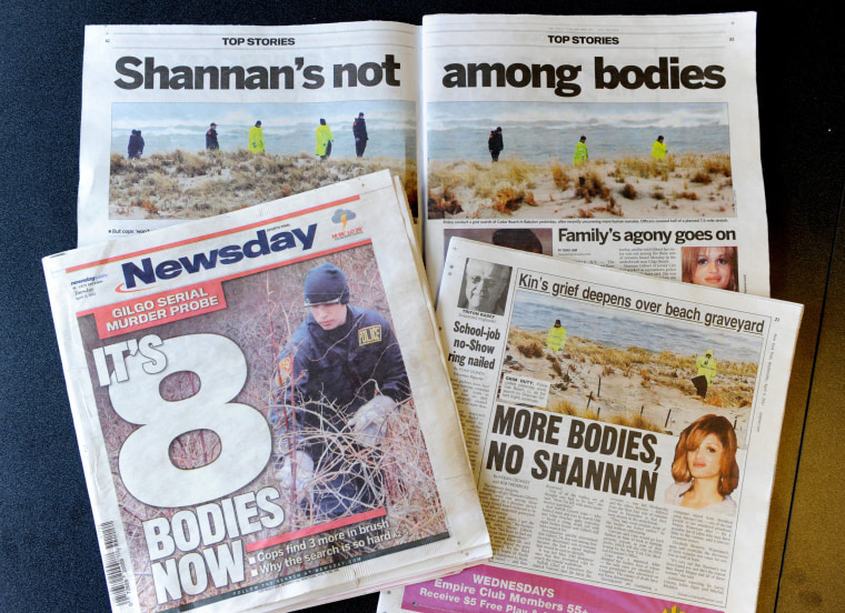Articles about the discovery of bodies near a Long Island, New York beach