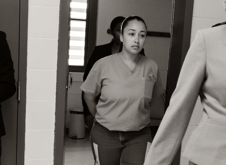 Cyntoia Brown enters her clemency hearing on May 23, 2018, at Tennessee Prison for Women in Nashville.