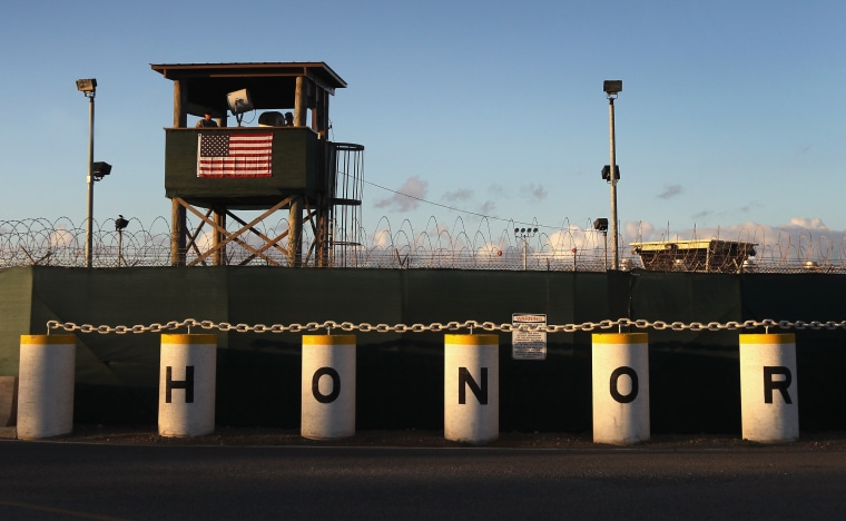 Image: A U.S. military guard tower at Guantanamo Bay detention center in Cuba on Sept. 16, 2010.