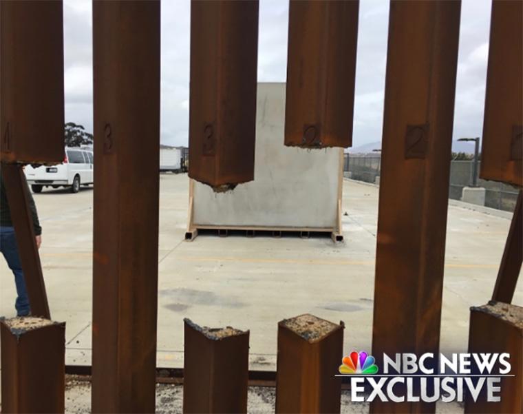Image: Border wall steel prototype