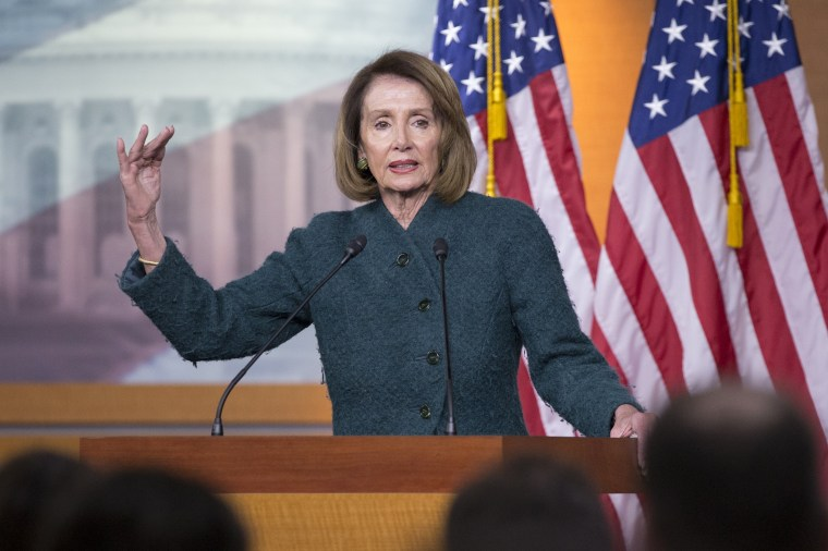 Speaker of the House Democrat Nancy Pelosi holds a news conference on Capitol Hill on Jan. 10, 2019.