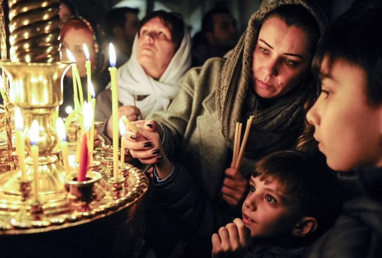 Image: AZERBAIJAN-RELIGION-ORTHODOX-CHRISTMAS