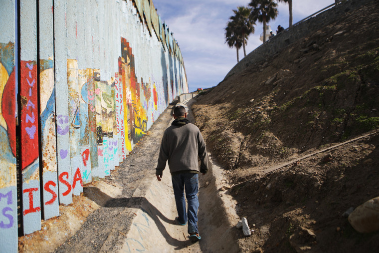 Image: Border Wall On US Mexico Border Continues To Be Sticking Point Driving Government Shutdown Into Its Third Week