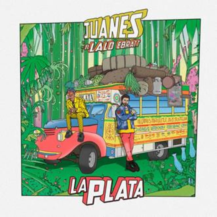 Cover for single 'La Plata' with Juanes featuring Lalo Ebratt.