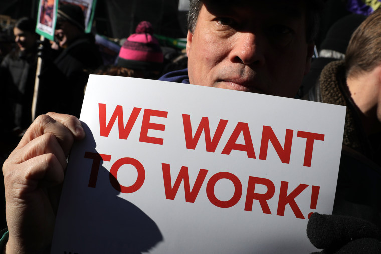 Image: Union Organizers In Washington, D.C. Hold Rallies Calling For End To Government Shutdown