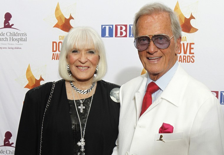 Image: Shirley and Pat Boone at an event in Nashville, Tennessee, in 2014.