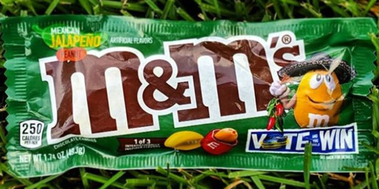 Jalapeno M&M's, English Toffee, Thai Coconut have hit stores