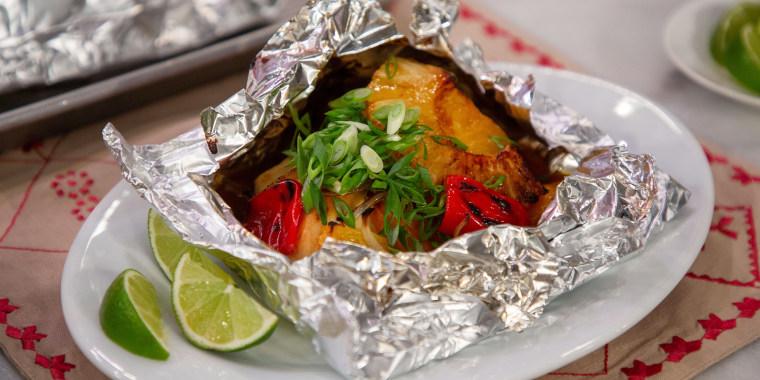 Ryan Scott's Salmon en Papillote + Hawaiian Chicken in da Bag