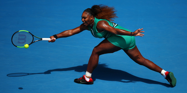 9703c0b5f220 2019 Australian Open - Day 2. Serena Williams in action in ...