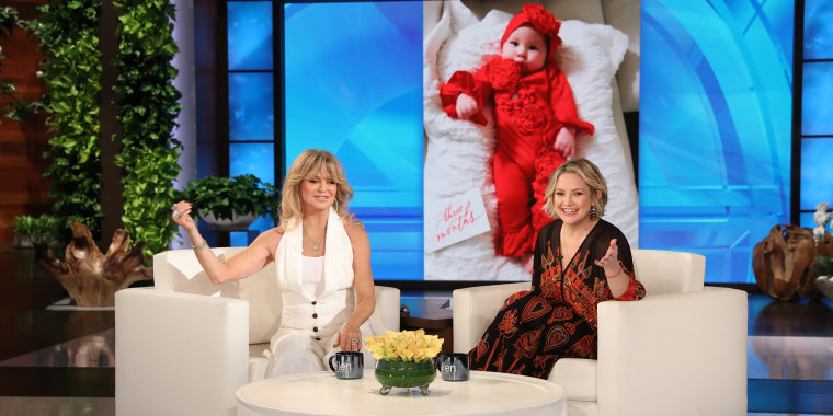 "Goldie Hawn and Kate Hudson are hosting ""Ellen"" today"