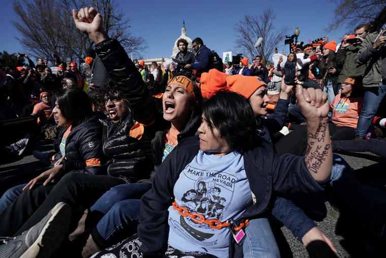 Image: Immigration activists protest in Washington