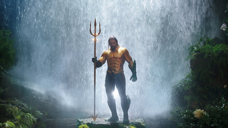 "Image: Jason Momoa in a scene from ""Aquaman."""
