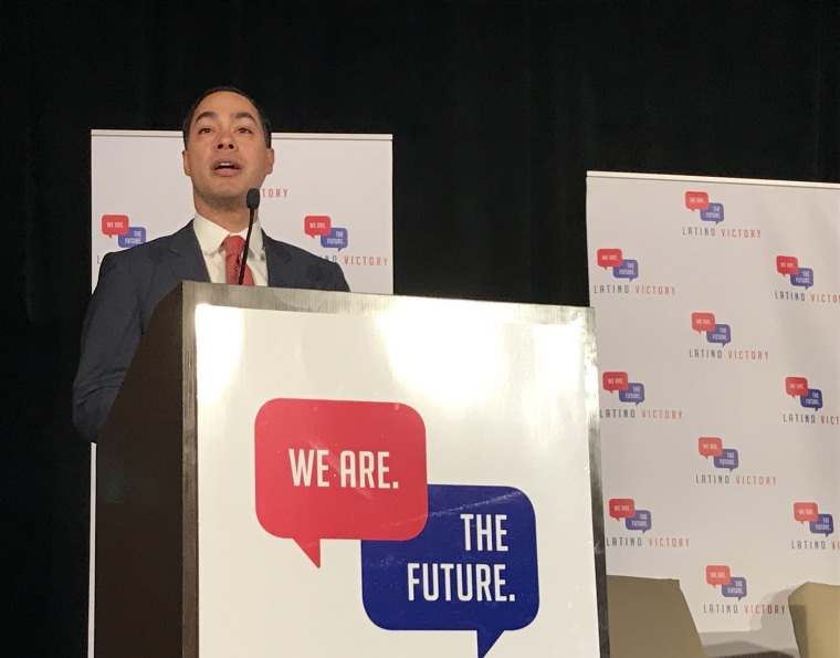 Image: Julian Castro, who recently announced his bid for the 2020 presidential race, speaks to the Latino Victory Fund Summit in San Juan, Puerto Rico