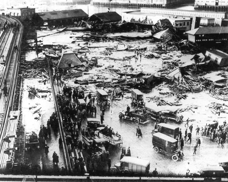 Image: The devastation after the Great Boston Molasses Flood in 1919.