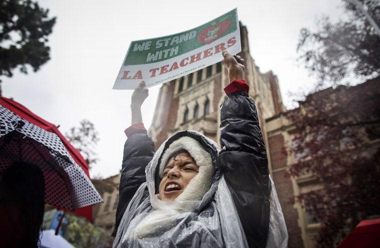 Image: Los Angeles teachers on strike