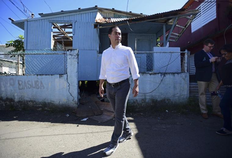 Image: Julian Castro in Puerto Rico