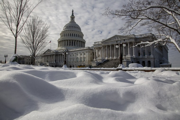 Image: The Capitol on the 24th day of the partial government shutdown on Jan. 14, 2019.