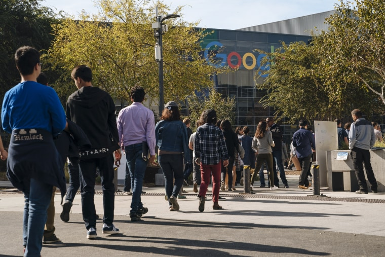 Image: Google employees during a walkout protest in Mountain View, California, on Nov. 1, 2018.