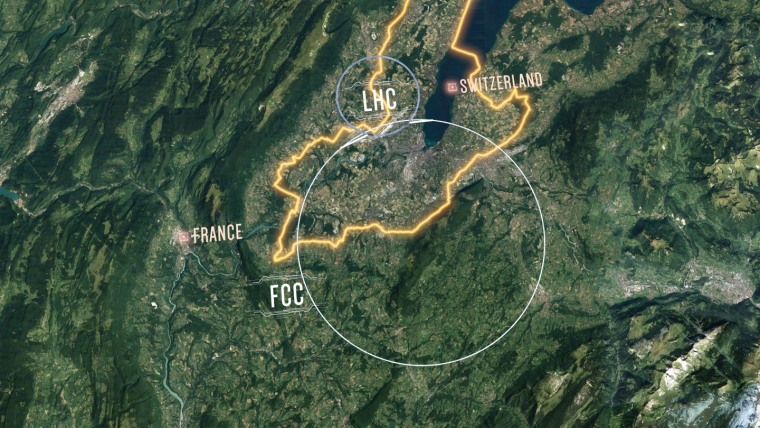 Image: The proposed layout of the future circular collider.