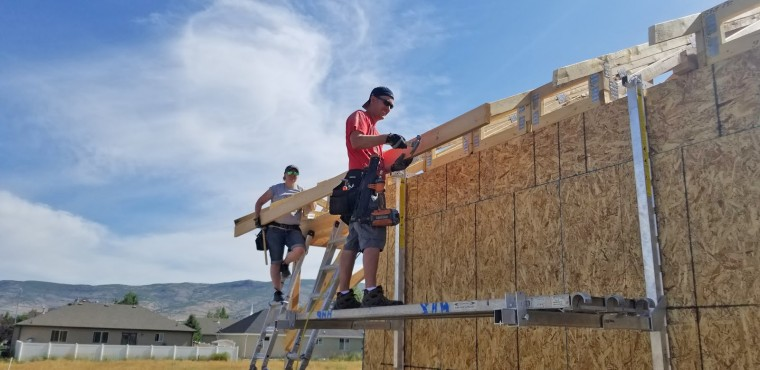 Lisa and Craig Godfrey construct their house in Heber City, Utah