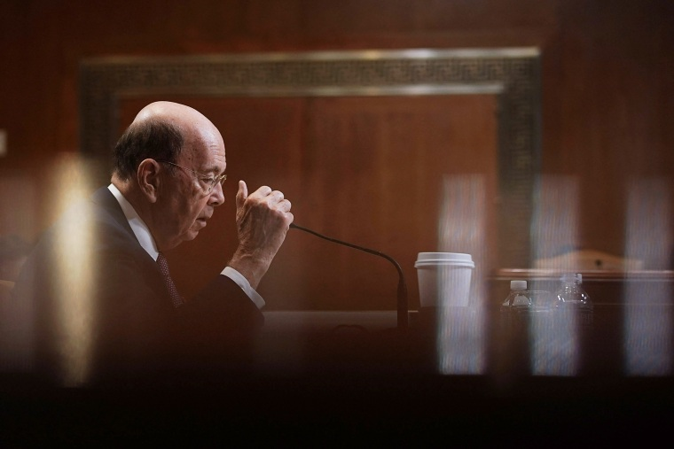 Image: Secretary of Commerce Wilbur Ross testifies during a hearing on Capitol Hill on May 10, 2018.