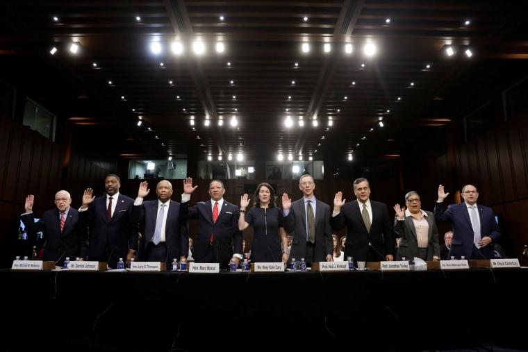Image:  William Barr Senate Judiciary Committee nomination hearing witnesses