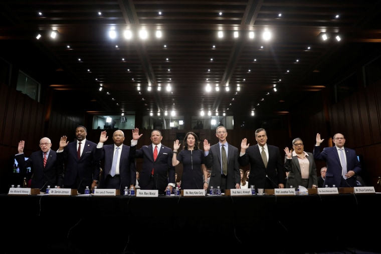 Image:  William Barr Senate Judiciary Committee nomination hearing witnesses