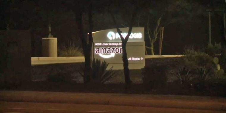 The Amazon fulfillment center in Phoenix where a newborn baby was found dead.