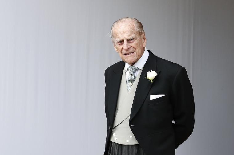 Image: Prince Philip, Duke of Edinburgh, at St. George's Chapel on October 12, 2018.