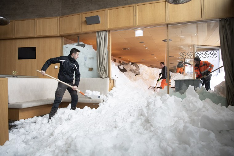 Image: Avalanche in Hundwil, Switzerland